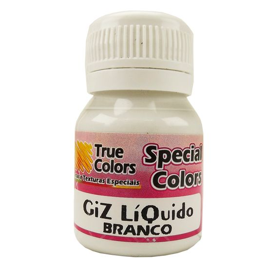 Giz-Liquido-Branco-37ml---True-Colors