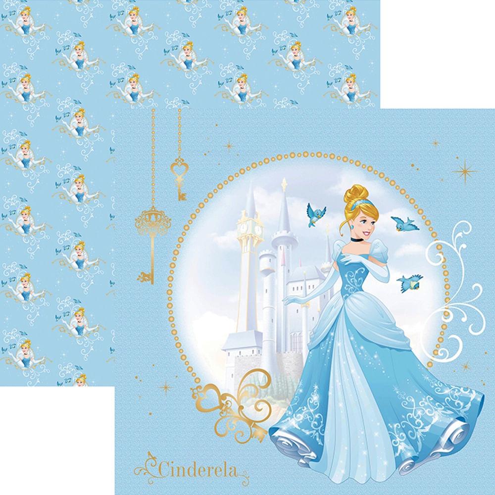 d45bc21fde4 Papel ScrapFesta Disney Princesa Cinderela Guirlanda SDFD069 - Toke e Crie  - PalacioDaArte