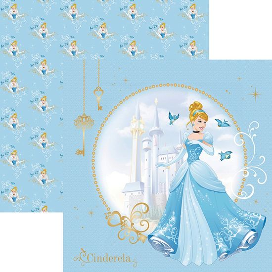 Papel-ScrapFesta-Disney-Princesa-Cinderela-Guirlanda-SDFD069---Toke-e-Crie