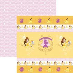 Papel-ScrapFesta-Disney-Princesa-Bela-Fitas-e-Rotulos-SDFD065---Toke-e-Crie