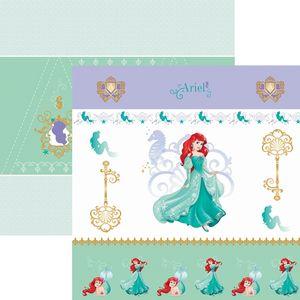 Papel-ScrapFesta-Disney-Princesa-Ariel-Cenario-e-Bandeirolas-SDFD082---Toke-e-Crie