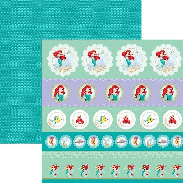 Papel-ScrapFesta-Disney-Princesa-Ariel-Selos-e-Tags-SDFD085---Toke-e-Crie