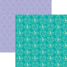 Papel-ScrapFesta-Disney-Princesa-Ariel-Estampado-SDFD086---Toke-e-Crie