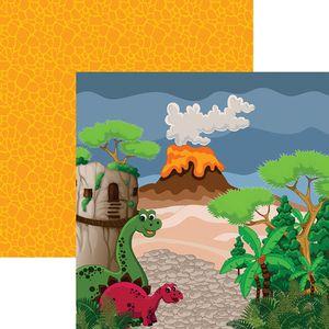 Papel-Scrapbook-Dinossauros-Paisagem-SDF695---Toke-e-Crie-By-Flavia-Terzi