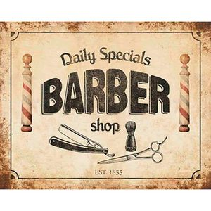 Placa-Decorativa-Barber-Shop-24x19cm-DHPM-158---Litoarte