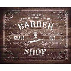 Placa-Decorativa-Barber-Shop-24x19cm-DHPM-160---Litoarte