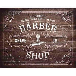 Placa-Decorativa-Barber-Shop-24x19cm-DHPM-160---Litoarte