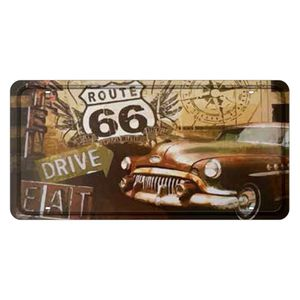 Placa-Decorativa-15x30cm-Rota-66-Drive-Eat-LPD-020---Litocart