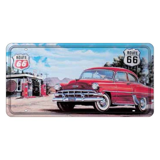 Placa-Decorativa-15x30cm-Route-66-LPD-022---Litocart