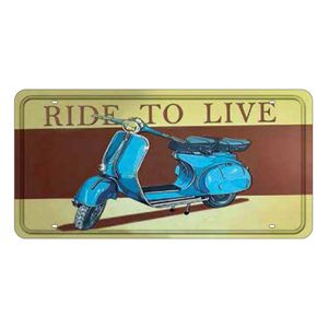 Placa-Decorativa-15x30cm-Vespa-Ride-To-Live-LPD-028---Litocart