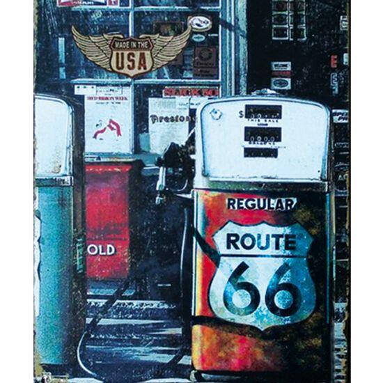 Placa-Decorativa-245X195cm-Posto-de-Gasolina-Route-66-LPMC-040---Litocart