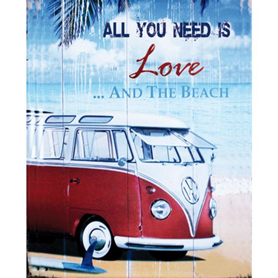 Placa-Decorativa-245X195cm-All-You-Need-Is-Love-And-The-Beach-LPMC-041---Litocart