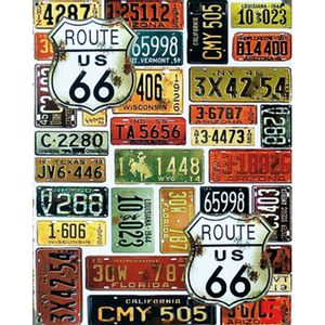 Placa-Decorativa-245X195cm-Route-US-66-LPMC-045---Litocart