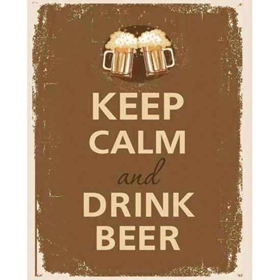 Placa-Decorativa-245X195cm-Keep-Calm-And-Drink-Beer-LPMC-048---Litocart