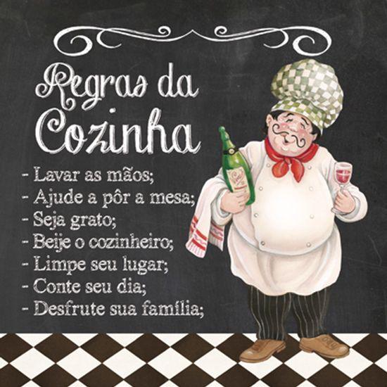 Placa-Decorativa-25x25cm-Regras-da-Cozinha-LPQC-021--Litocart