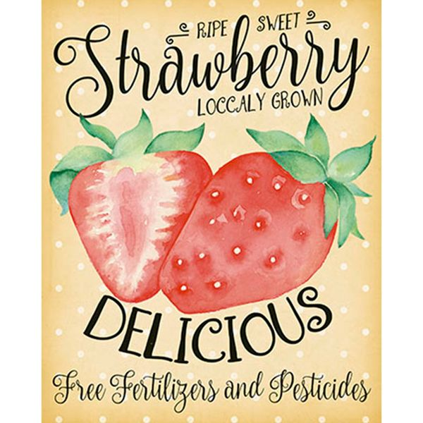 Placa-Decorativa-Strawberry-24x19cm-DHPM-134---Litoarte