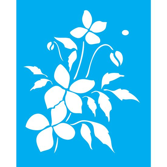 Stencil-para-Pintura-25X20cm-Flores-LSG-061---Litocart