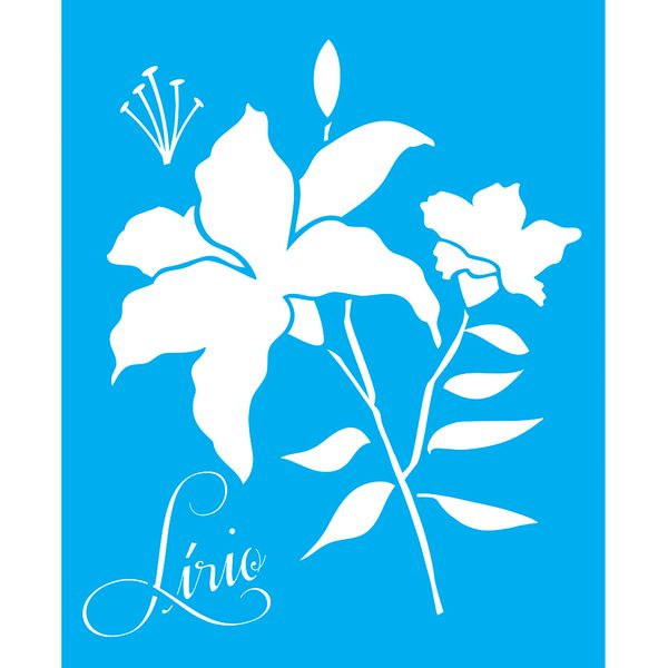 Stencil-para-Pintura-25X20cm-Lirio-LSG-067---Litocart