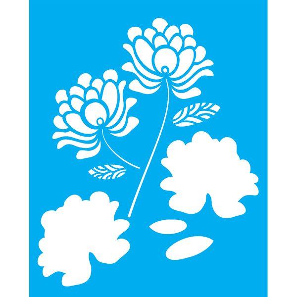 Stencil-para-Pintura-25X20cm-Flores-LSG-073---Litocart