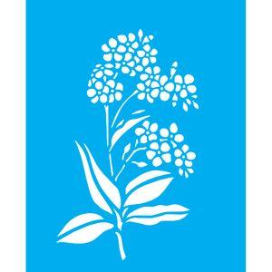 Stencil-para-Pintura-25X20cm-Flores-LSG-079---Litocart