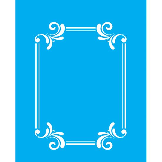 Stencil-para-Pintura-25X20cm-Moldura-Arabesco-LSG-087---Litocart