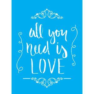 Stencil-para-Pintura-20X15cm-All-You-Need-Is-Love-Arabesco-LSM-062---Litocart