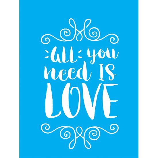 Stencil-para-Pintura-20X15cm-All-You-Need-Is-Love-LSM-064---Litocart