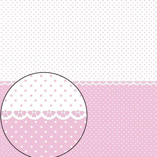 Papel-Scrapbook-Folha-Simples-305x305cm-Poa-Rosa-e-Branco-LSC-269---Litocart