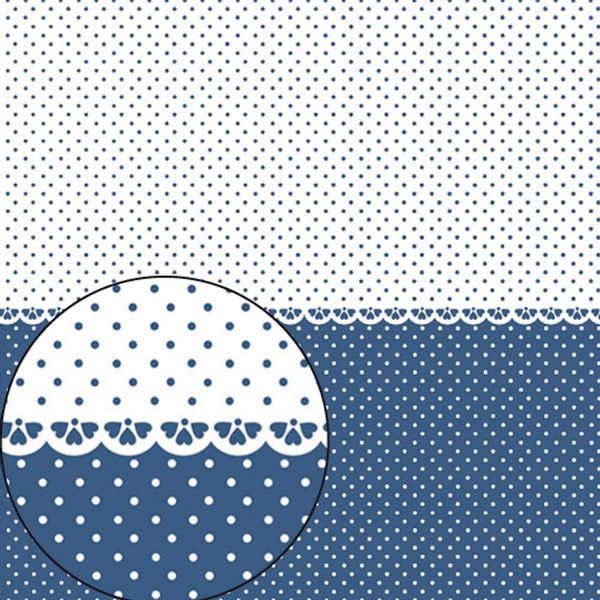 Papel-Scrapbook-Folha-Simples-305x305cm-Poa-Azul-Marinho-e-Branco-LSC-272---Litocart