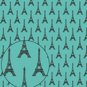 Papel-Scrapbook-Folha-Simples-305x305cm-Torre-Eiffel-LSC-283---Litocart