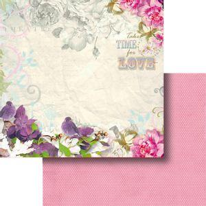 Papel-Scrapbook-Dupla-Face-305x305cm-Flores-e-Passaros-LSCD-377---Litocart