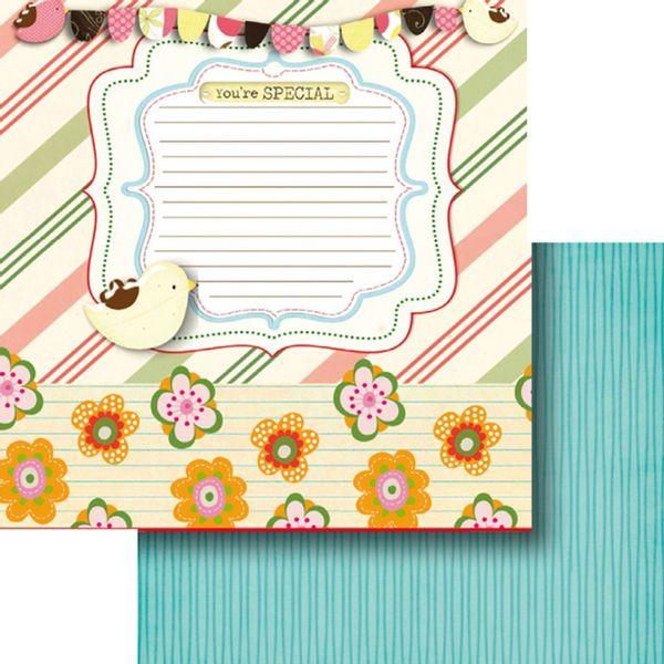 Papel-Scrapbook-Dupla-Face-305x305cm-Tag-Passaros-e-Flores-LSCD-381---Litocart