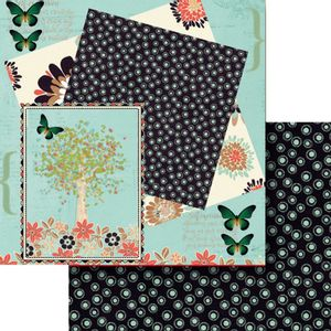 Papel-Scrapbook-Dupla-Face-305x305cm-Jardim-com-Borboletas-LSCD-384---Litocart