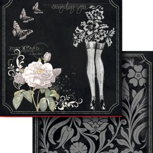 Papel-Scrapbook-Dupla-Face-305x305cm-Borboletas-e-Flores-LSCD-389---Litocart