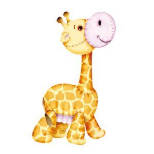 Aplique-Decoupage-7x7cm-Girafa-LMAM-007---Litocart