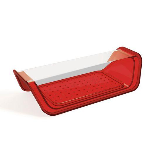 Manteigueira-Vermelha-com-tampa-Transparente-em-Poliestireno-UZ172-VM---UZ-Utilidades