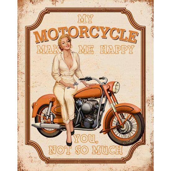 Placa-Decorativa-Retro-Mulher-e-Moto-Laranja-24x19cm-DHPM-170---Litoarte