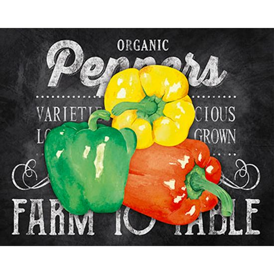 Placa-Decorativa-Organic-Peppers-24x19cm-DHPM-131--Litoarte