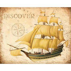 Placa-Decorativa-Navio-Discover-24x19cm-DHPM-162---Litoarte