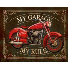 Placa-Decorativa-My-Garage-24x19cm-DHPM-171---Litoarte