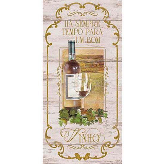 Placa-Decorativa-Ha-sempre-Tempo-para-um-Bom-Vinho-40x19cm-DHPM3-006---Litoarte