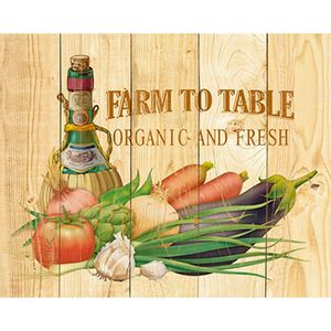 Placa-Decorativa-Farm-To-Table-Organic-and-Fresh-24x19cm-DHPM-153---Litoarte