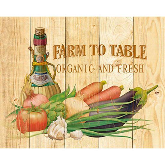 Placa-Decorativa-Farm-To-Table-Organic-and-Fresh-24x19cm-DHPM-153---Litoarte