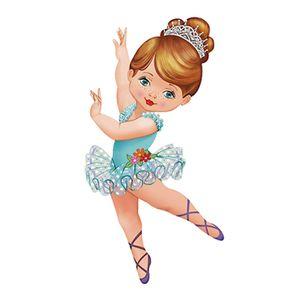 Aplique-Decoupage-8cm-Bailarina-de-Vestido-Azul-APM8-582---Litoarte