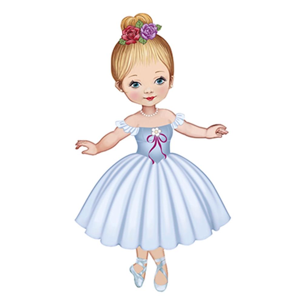 232e9514ee Aplique Decoupage 8cm Bailarina de Vestido Branco APM8-585 - Litoarte -  PalacioDaArte