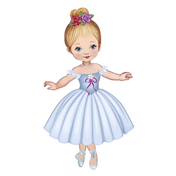 Aplique-Decoupage-8cm-Bailarina-de-Vestido-Branco-APM8-585---Litoarte