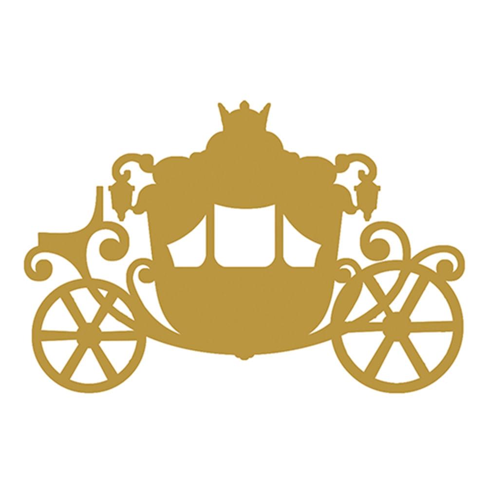 Aplique Decoupage 8cm Carruagem Dourada APM8-609 - Litoarte - PalacioDaArte 86978c8954
