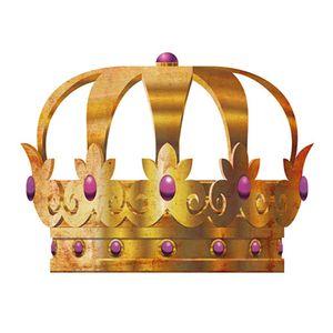 Aplique-Decoupage-8cm-Coroa-Dourada-Pedras-Lilas-APM8-521---Litoarte