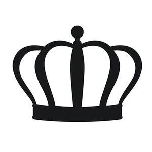 Aplique-Decoupage-8cm-Coroa-Gomos-Preta-APM8-525---Litoarte