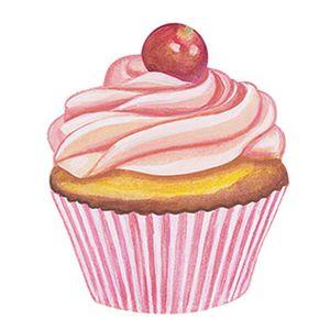 Aplique-Decoupage-8cm-Cupcake-Cereja-APM8-390---Litoarte
